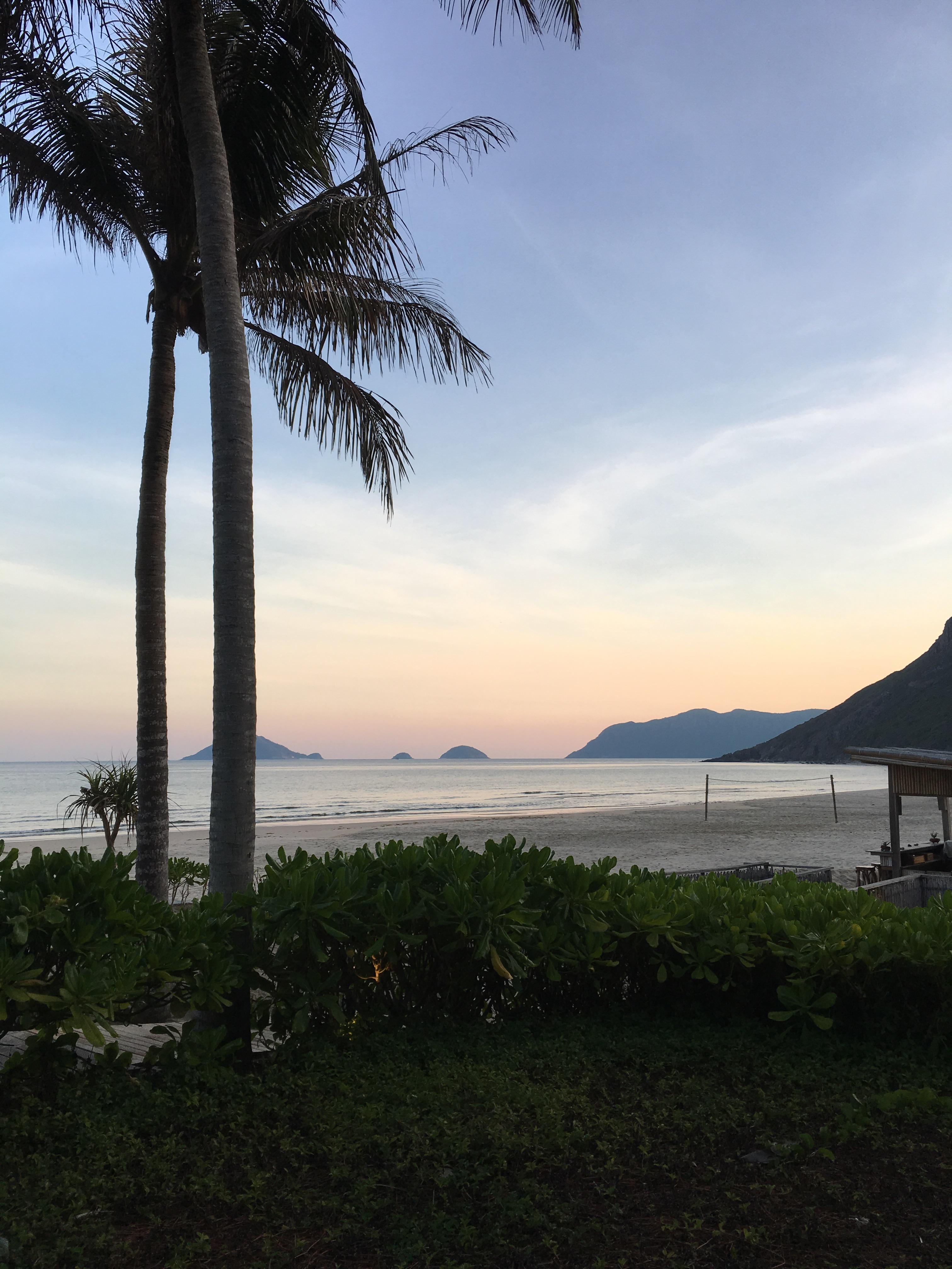 Six senses_beach_sunset_palm tree_Con Dao_Vietnam